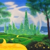 Grosh Oz Emerald City backdrop projections is used for productions of Wizard of Oz