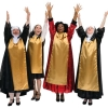 Rental Costumes for Sister Act - Glitter Habits Deloris, Mary Roberts, Mary Lazurus, and Mary Patrick
