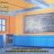 Classroom Interior Scenic Backdrop