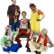 Rental Costumes for Godspell - Judas, Disciple #10; Robin, Disciple #3; Jesus as Superman; Sonya, Disciple #6; Herb, Disciple #9