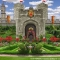 Queen of Hearts Courtyard Alice in Wonderland Backdrop