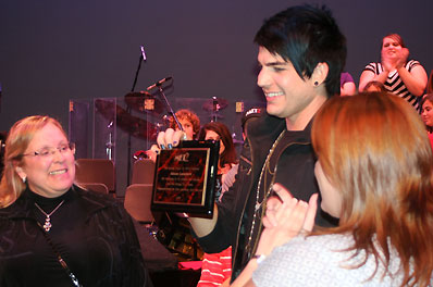 American Idol Finalist Adam Lambert receives a warm welcome home to Met2 in San Diego. Photo courtesy Nancy Hickey.