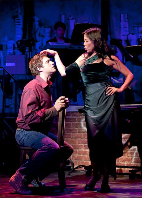 """Colin Hanlon, shown with Pearl Sun, plays a character dreading his 30th birthday in Jonathan Larson's """"Tick, Tick...Boom!"""""""