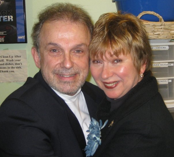 Anzalone with original FOLLIES cast member Mary Jane Houdina.  Houdina was also one of Michael Bennett