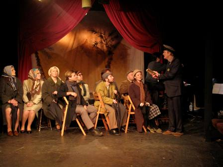 Alfie and his bus passengers in Londons Union Theatres A MAN OF NO IMPORTANCE