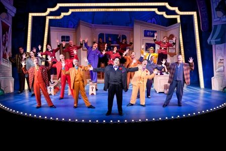Edward Juvier and the cast of GUYS & DOLLS