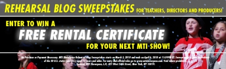 rental certificate, rehearsal blog, contest