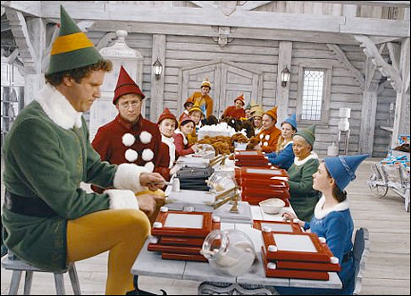 "Will Ferrell in the film ""Elf"" photo by Alan Markfield – © 2003 New Line Productions"