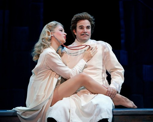 Roger Bart and Anne Horak in YOUNG FRANKENSTEIN