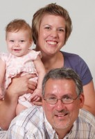 David Bell with wife and daughter