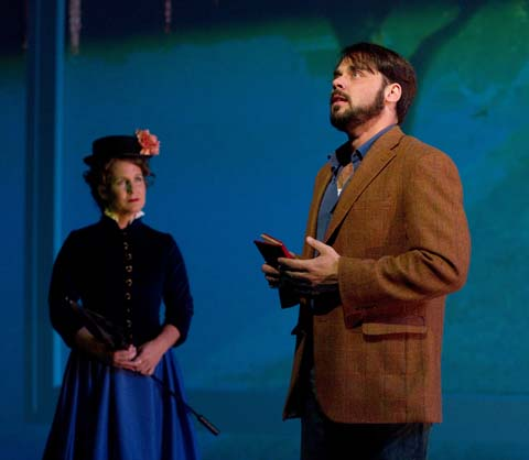 Kristine Fraelich as Dot and Jeffrey Coon as Georges in Arden Theatre Company