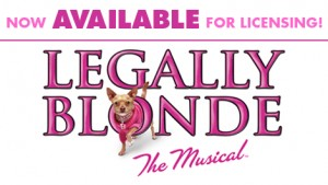 License the rights to LEGALLY BLONDE THE MUSICAL from Music Theatre International.  High Schools, Colleges, Community Theatres.