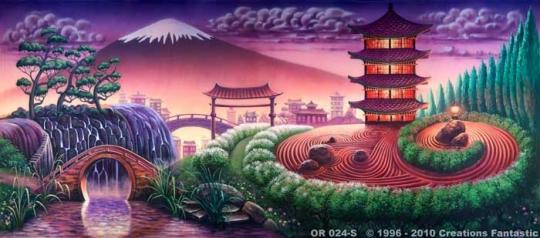 Oriental Landscape 2 OR024-S 20x45 Mulan Jr. Backdrop Rental