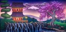 Oriental Landscape 1 OR023 20x40 Mulan Jr. Backdrop Rental